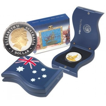 2004 1oz Silver Proof Australia Royal Visit - Florin